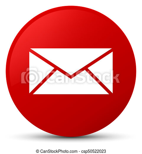 Email icon red round button - csp50522023