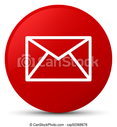 Email icon red round button - csp50368676