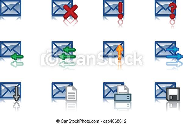 email icon set - csp4068612