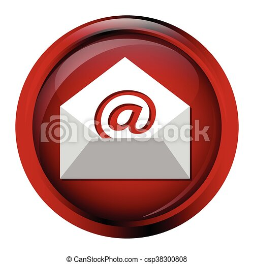 Email icon sign button - csp38300808