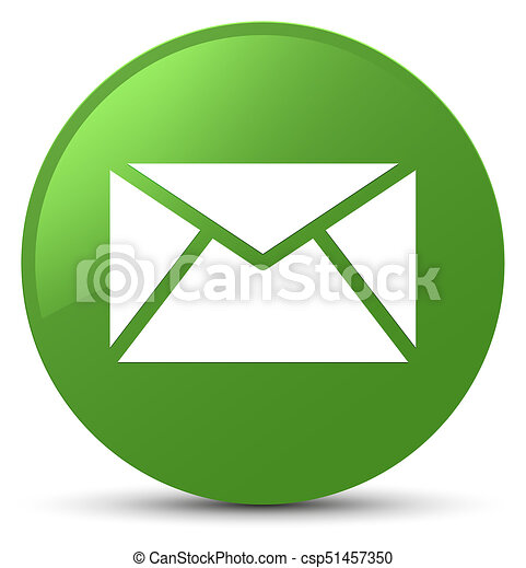Email icon soft green round button - csp51457350