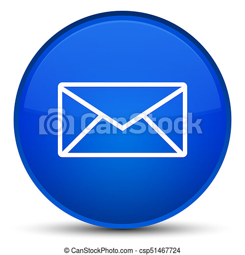 Email icon special blue round button - csp51467724
