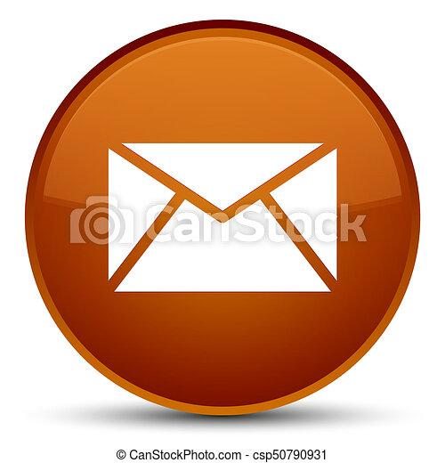 Email icon special brown round button - csp50790931