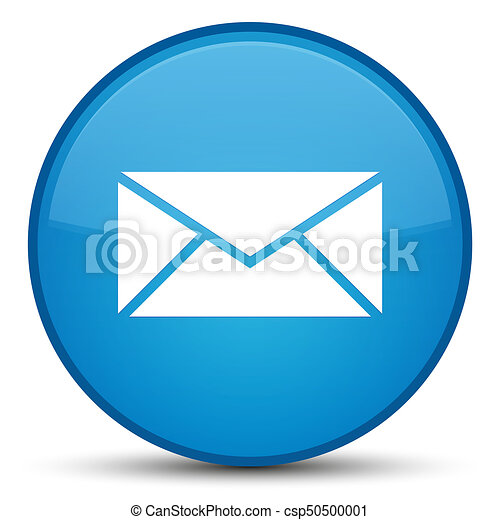 Email icon special cyan blue round button - csp50500001