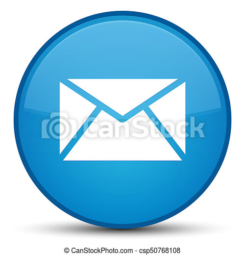 Email icon special cyan blue round button - csp50768108
