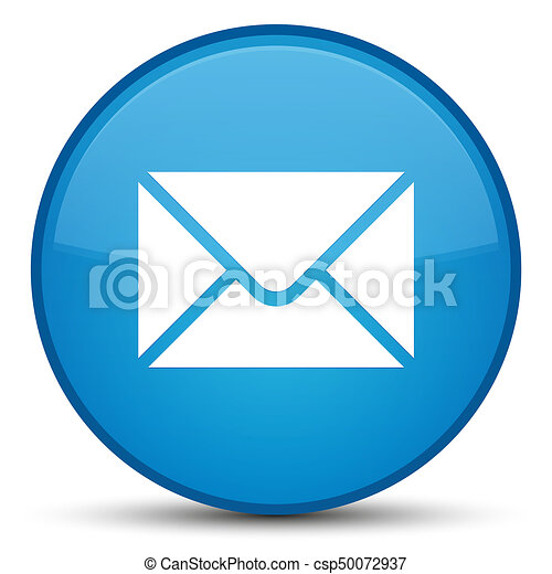 Email icon special cyan blue round button - csp50072937