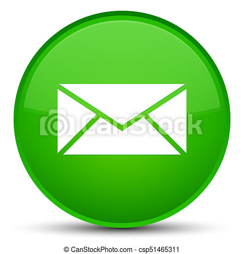 Email icon special green round button - csp51465311