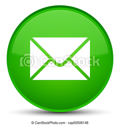 Email icon special green round button - csp50506148