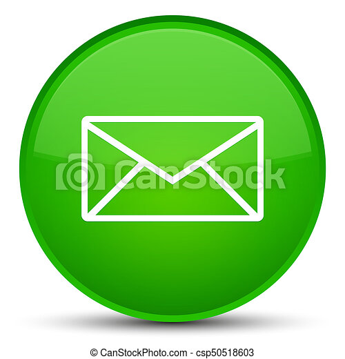 Email icon special green round button - csp50518603