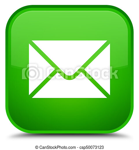 Email icon special green square button - csp50073123