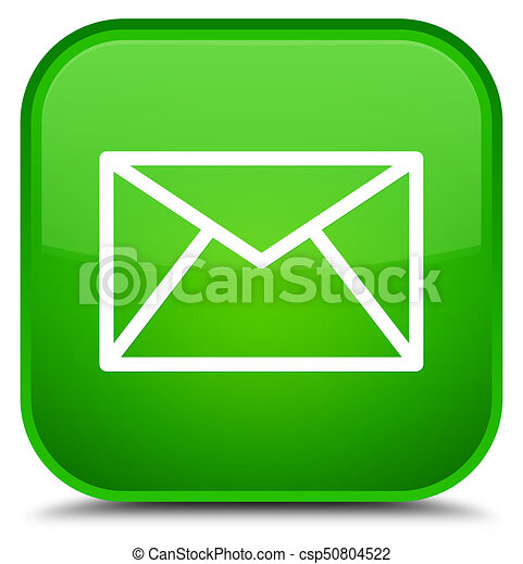 Email icon special green square button - csp50804522