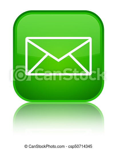 Email icon special green square button - csp50714345