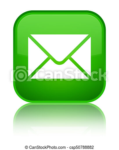 Email icon special green square button - csp50788882