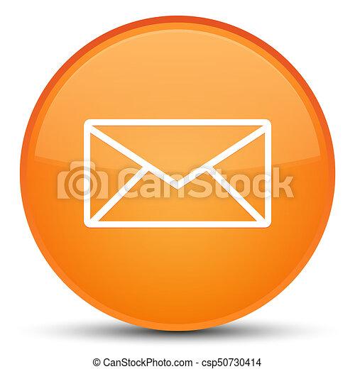 Email icon special orange round button - csp50730414