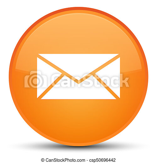 Email icon special orange round button - csp50696442
