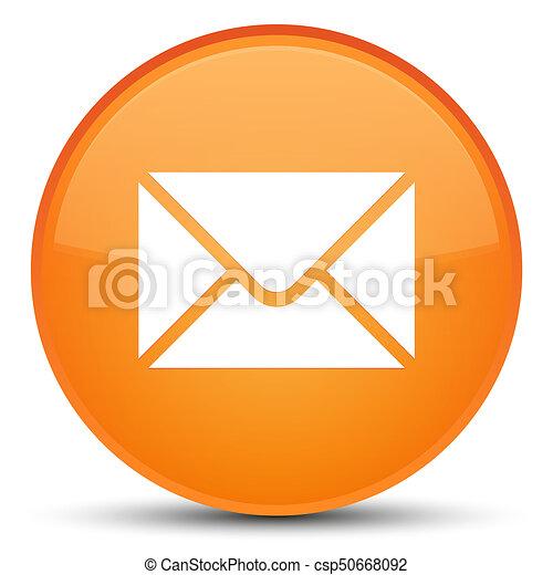 Email icon special orange round button - csp50668092