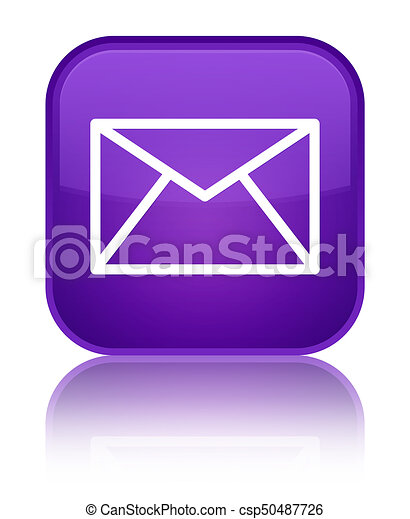 Email icon special purple square button - csp50487726