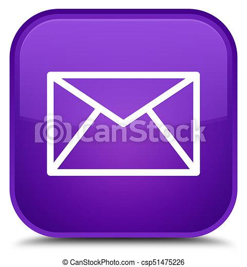 Email icon special purple square button - csp51475226