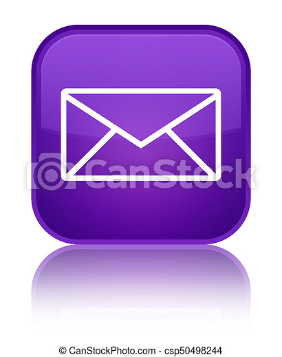 Email icon special purple square button - csp50498244