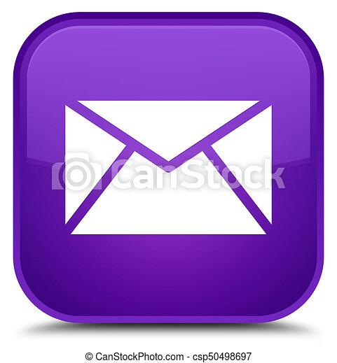 Email icon special purple square button - csp50498697