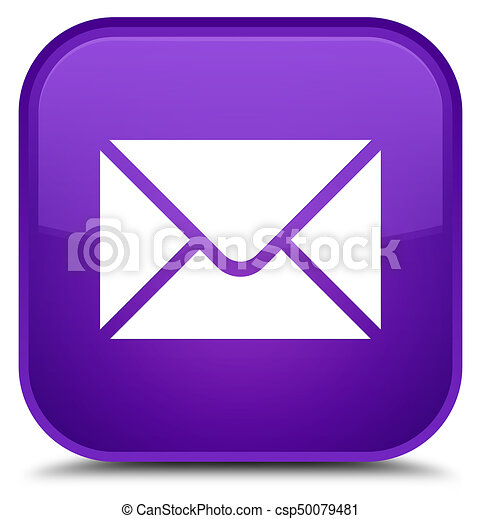 Email icon special purple square button - csp50079481