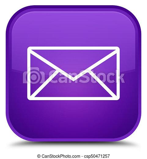 Email icon special purple square button - csp50471257