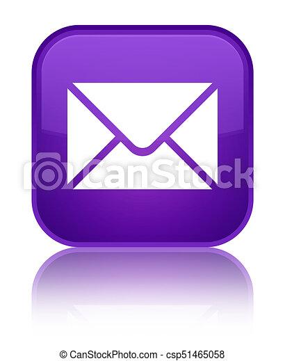 Email icon special purple square button - csp51465058