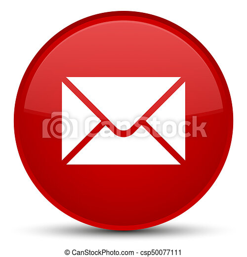 Email icon special red round button - csp50077111