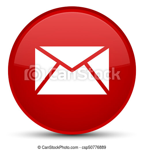 Email icon special red round button - csp50776889