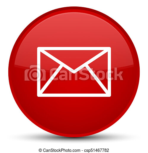 Email icon special red round button - csp51467782