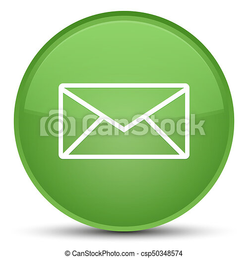Email icon special soft green round button - csp50348574