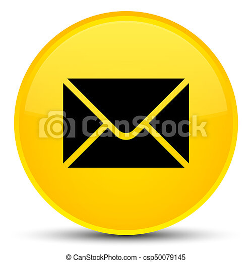 Email icon special yellow round button - csp50079145
