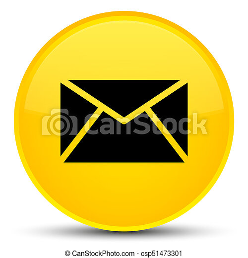 Email icon special yellow round button - csp51473301