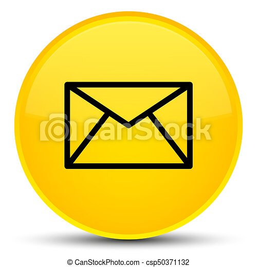 Email icon special yellow round button - csp50371132