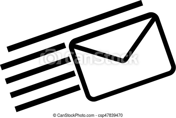 email icon vector mail icon vector icon on white background rh canstockphoto com email icon vector free download email icon vector free