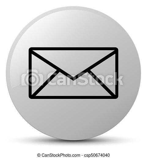 Email icon white round button - csp50674040
