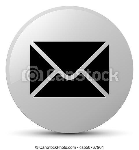 Email icon white round button - csp50767964
