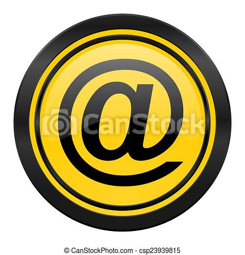 email icon, yellow logo - csp23939815