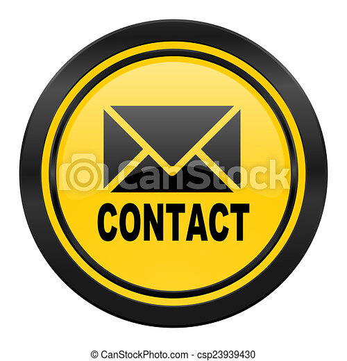 email icon, yellow logo, contact sign - csp23939430
