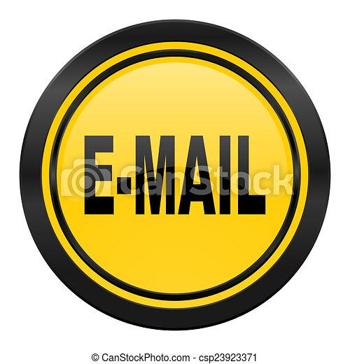 email icon, yellow logo, - csp23923371