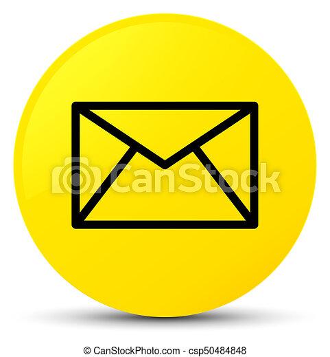 Email icon yellow round button - csp50484848