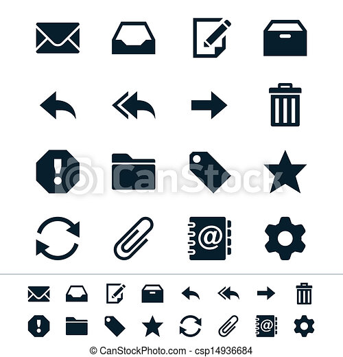 Email icons - csp14936684