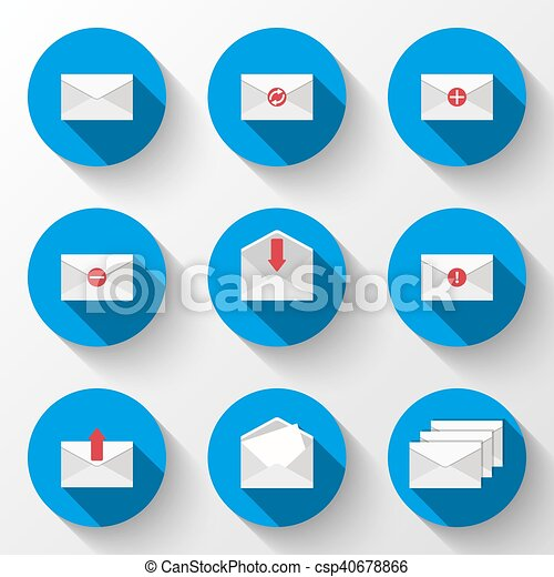 Email icons set - csp40678866