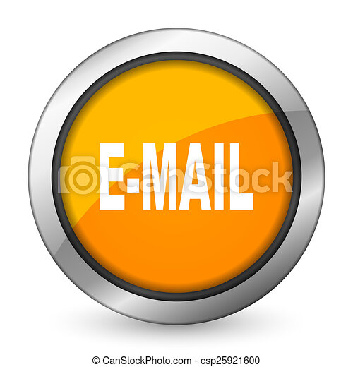 email orange icon - csp25921600