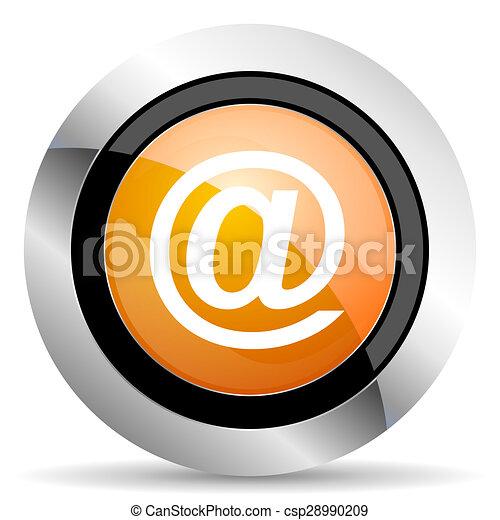 email orange icon - csp28990209