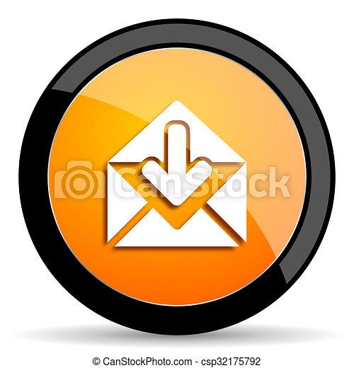 email orange icon - csp32175792