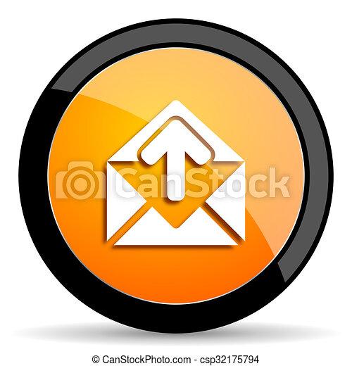 email orange icon - csp32175794