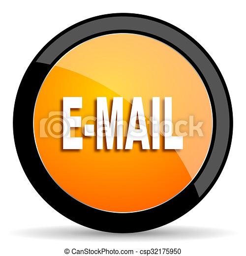 email orange icon - csp32175950