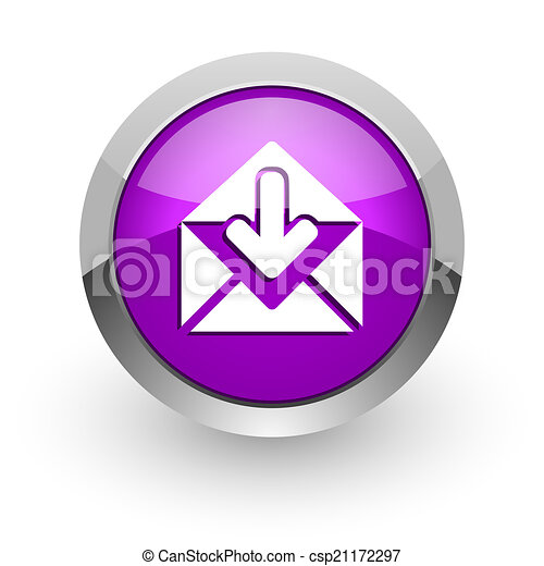 email pink glossy web icon - csp21172297
