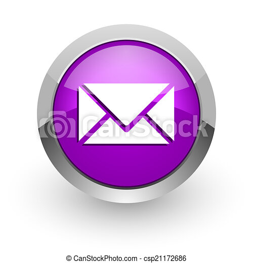 email pink glossy web icon - csp21172686